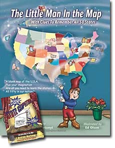 United States Geography Best Childrens Books - Man in the us map