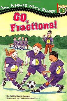 Go Fractions! math reader for kids