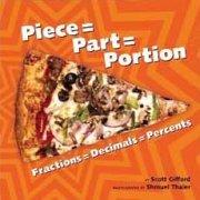 Piece Part Portion fractions decimals percents childrens book