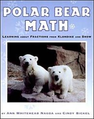 Polar Bear Math 'real life' examples of fractions for kids