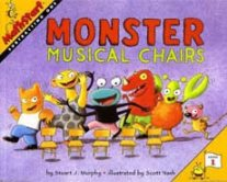 Monster Musical Chairs subtraction picture book