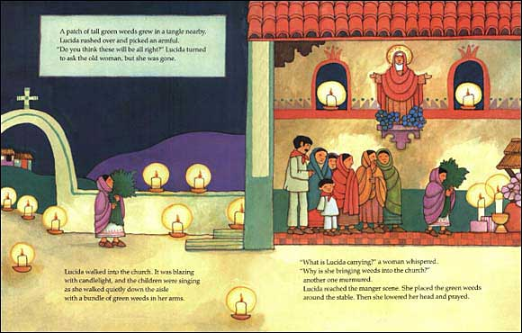 picture regarding The Legend of the Poinsettia Printable Story named The Legend of the Poinsettia by way of Tomie DePaola