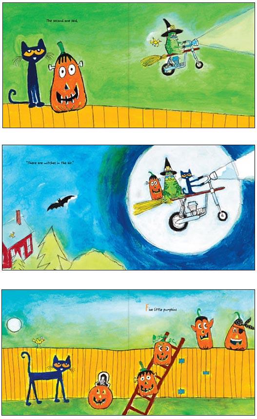 Pete the Cat Five Little Pumpkins