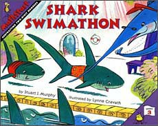 Shark Swimathon mathstart subtraction book