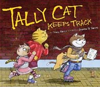 Tally Cat Keeps Track -- math storybook about tallying