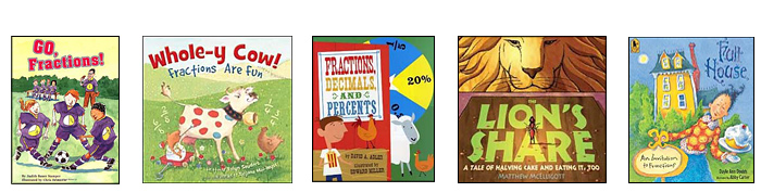 books on fractions -- great for fractions lesson plans