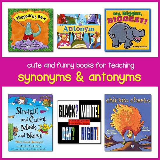 Worksheets Synonyms List For Kids teaching antonyms and synonyms with childrens books best for antonyms