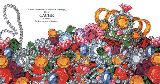 A Cache of Jewels -- collective nouns book by Ruth Heller